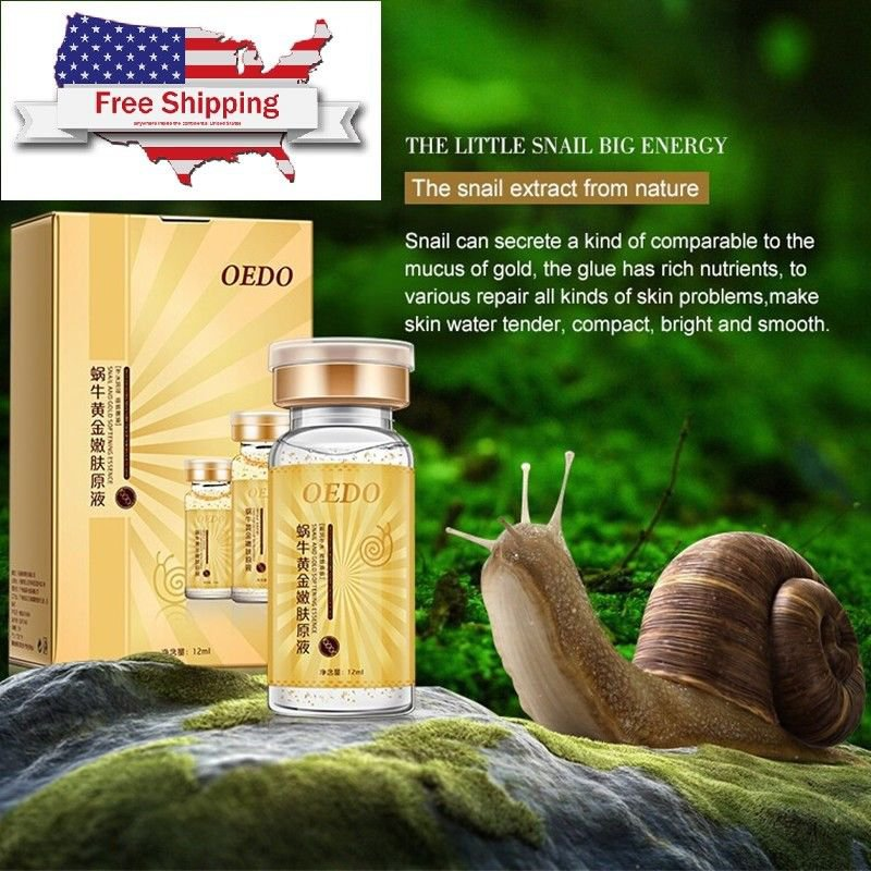 Gold Snail Serum Face Cream Snail And Gold Essence Snail Pure Extract Anti-Aging