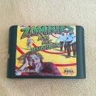 Zombies Ate My Neighbors 16 bit MD Game Cartridge Card Sega Mega Drive Genesis
