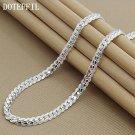 Silver Necklace Full Sideways Women 925 sterling Chain Men Fashion Flat Jewelry