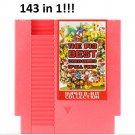 143 in 1 Nintendo NES Card Cartridge Best Video Games Of All Time 72 Pins 8 Bit