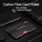 RFID Blocking Slim Carbon Fiber Money Clip Men Minimalist Wallet ID Card Holder
