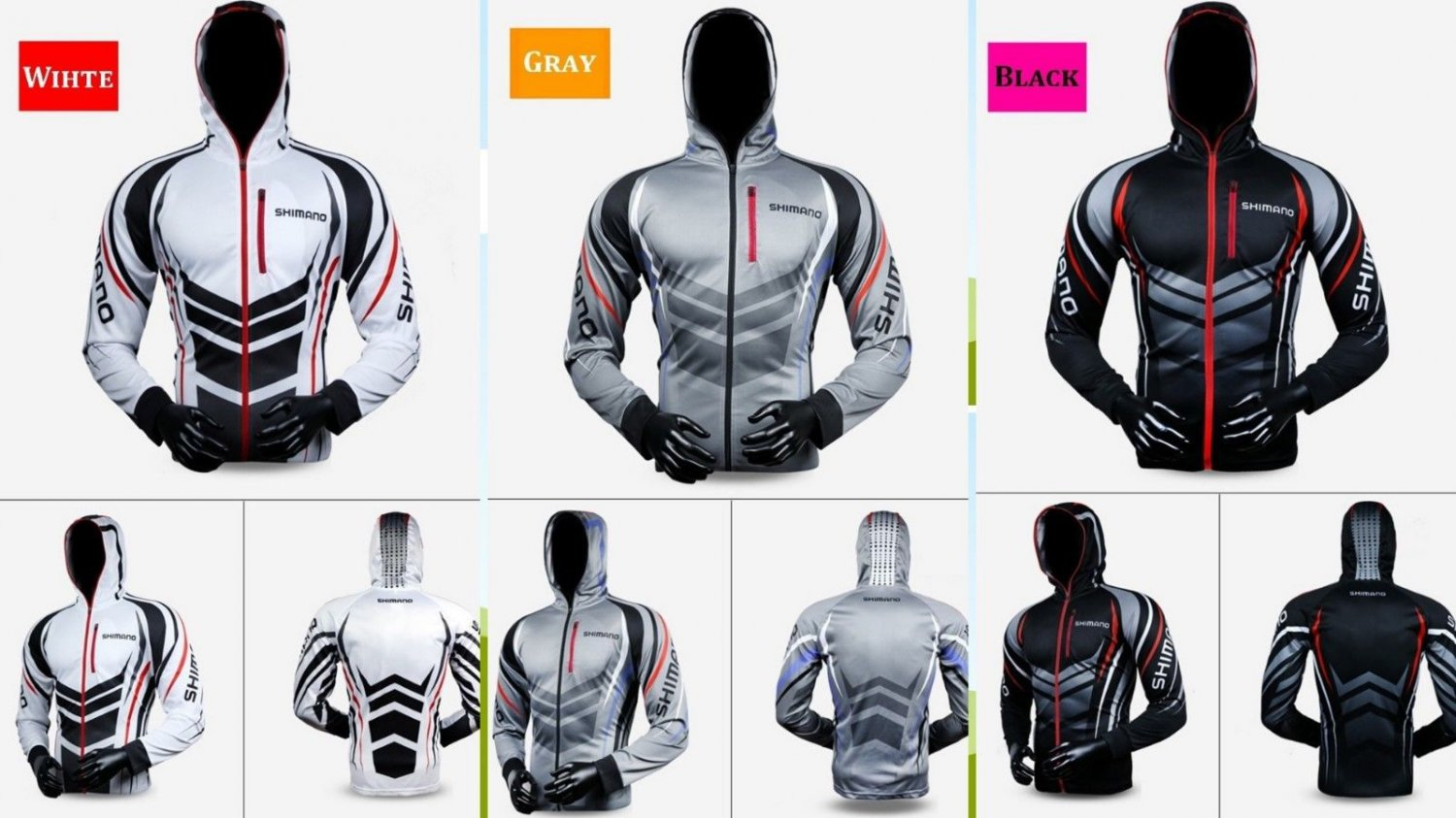 Fishing Men Hooded Shirt Quick-Drying Breathable Sun-proof Cycling Jacket Coat