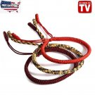 Tibetan Buddhist Handmade Love Lucky Rope Bracelet Knots Adjustable Unisex