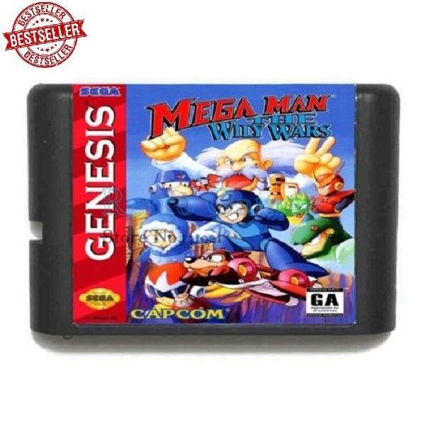 Mega Man The Wily Wars MD Game 16bit Sega Mega Drive Genesis Handheld Console