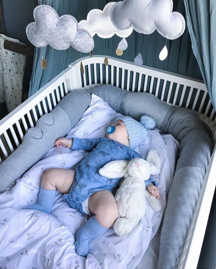 185cm Cotton Baby Crib Bumper Crocodile Doll Pillow Cushion Nursery Bedding