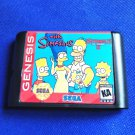 Simpsons Streets of Rage 2 16 bit MD Cartridge Game Card Sega Mega Drive Genesis