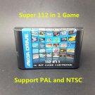 Hot Sell Best 112 in 1 Cartridge Game Card MD 16bit Sega Mega Drive Genesis New