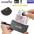 Rocketek Smart Card Reader USB 2.0 DOD Military CAC Common Access-Bank card-ID