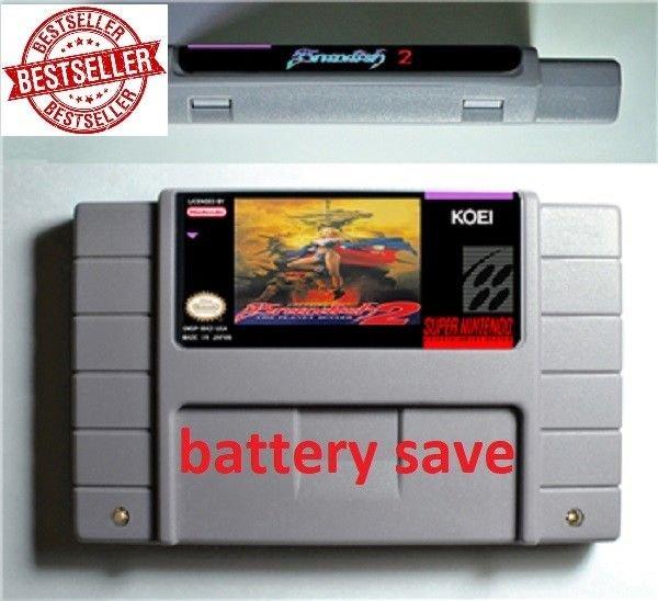 Brandish 2 Super Nintendo SNES NTSC Game Cartridge Card US Version Battery Save