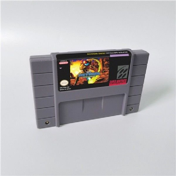 Super Metroided Zero Missioned Super Nintendo SNES NTSC Cartridge Battery Save