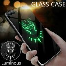 Marvel Figures Batman Superman Logo Luminous Glass Case For Iphone X XS Max XR