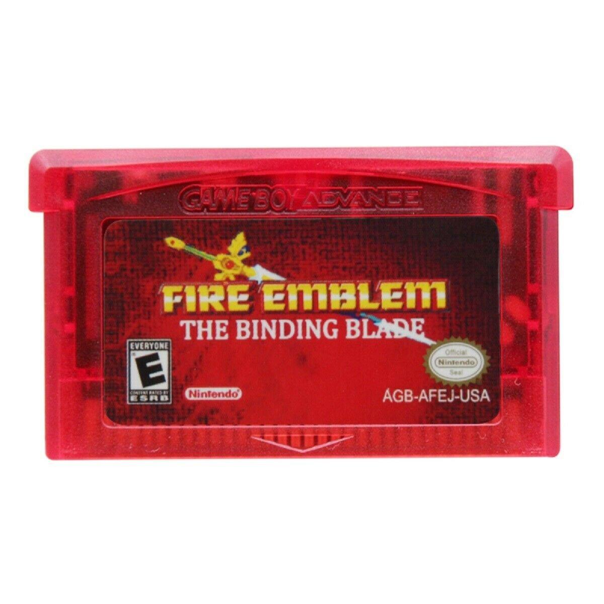 Fire Emblem-The Binding Blade Gameboy Advance (GBA)- Cartridge Card US Version