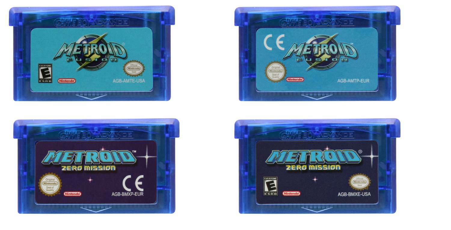 Metroid Fusion /Zero Mission Gameboy Advance (GBA) Cartridge Card EUR/US Version