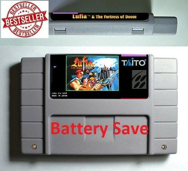 Lufia Fortress of Doom Super Nintendo SNES Cartridge RPG 16bit Battery Save