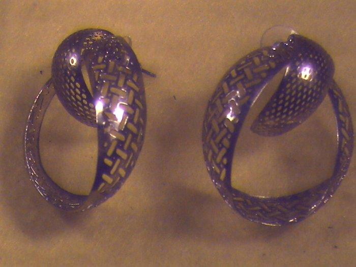 Silver Filligre Pierced Earrings (011)