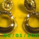 Gold w/Rhinestones Clip On Earrings  (073)
