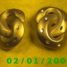Gold Knots Clip On Earrings