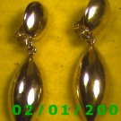 Gold w/Gold Charm Clip On Earrings