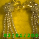Crystal n Pearls Clip On Earrings
