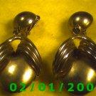 Gold Bug Clip On Earrings