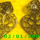 Silver Hearts Clip On Earrings