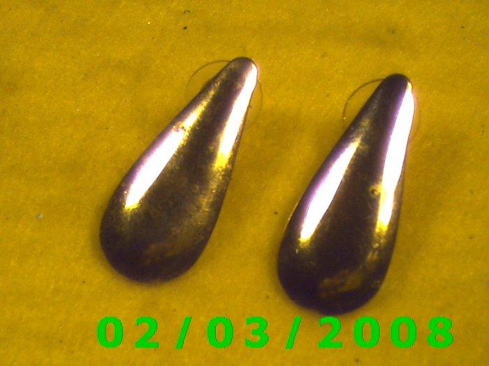 Gold Tear Drop Pierced Earrings