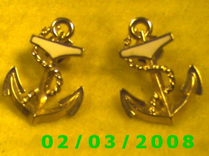 Ship's Anchor  Pierced Earrings