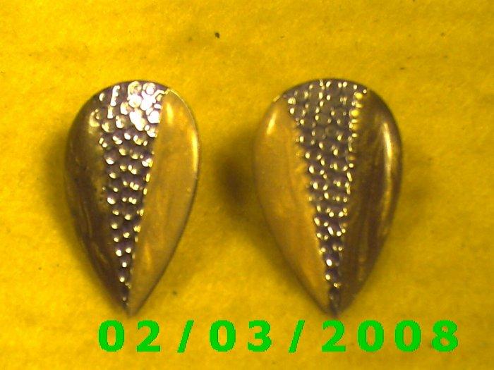 Tri Color  Pierced Earrings
