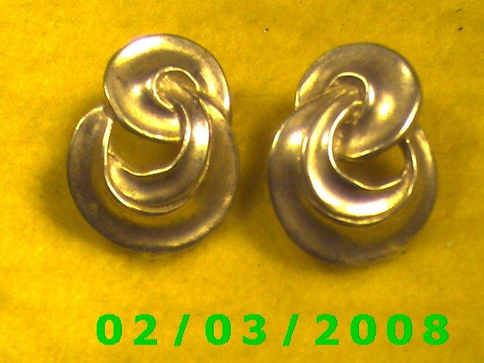 Silver Knots  Pierced Earrings