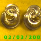Silver Knots  Pierced Earrings