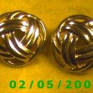 Gold Knots Pierced Earrings