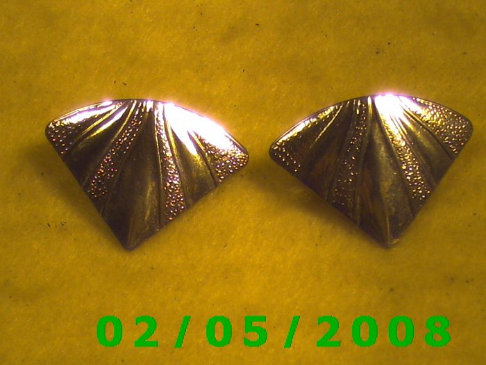 Gold Triangles Pierced Earrings