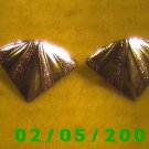 Gold Triangles Pierced Earrings