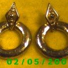 Gold Circles Pierced Earrings