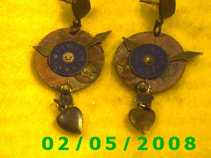 Clock Pierced Earrings