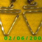 Silver Triangles Pierced Earrings (061)