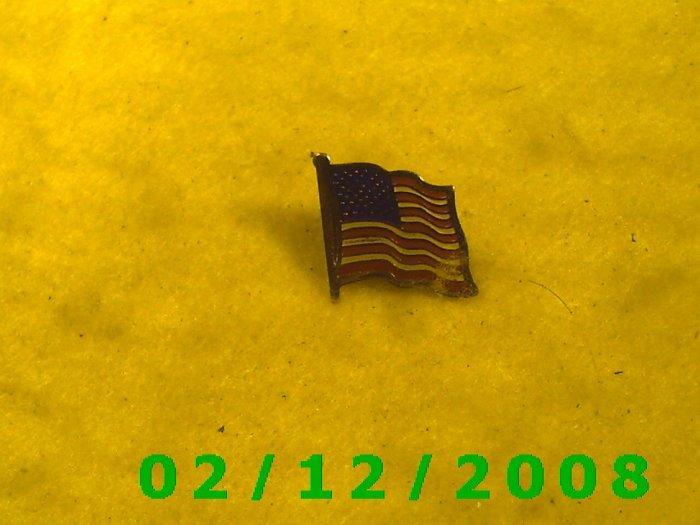 American Flag Hat Pin