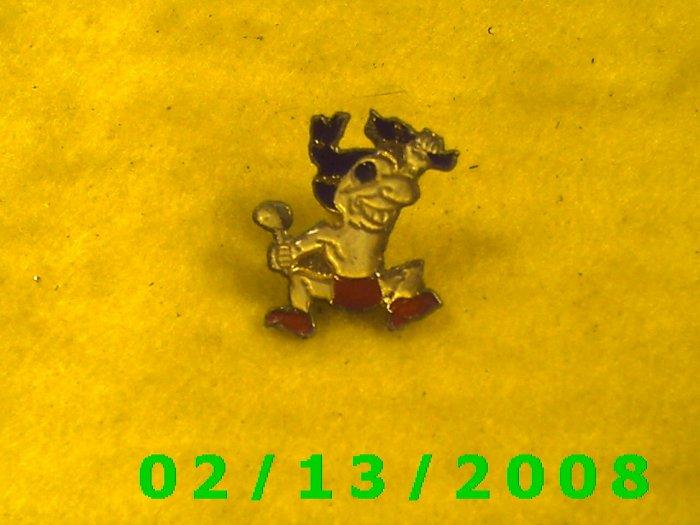 Man w/Dog Hat Pin