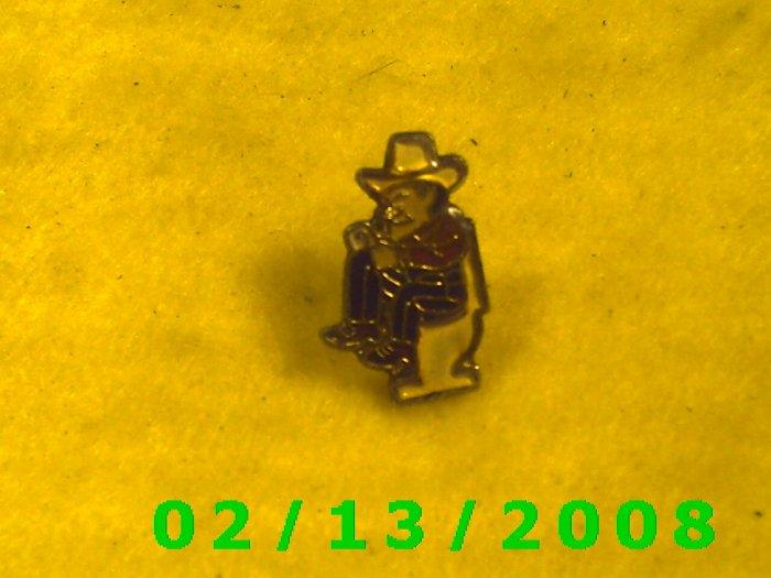 Cowboy on Stool Hat Pin