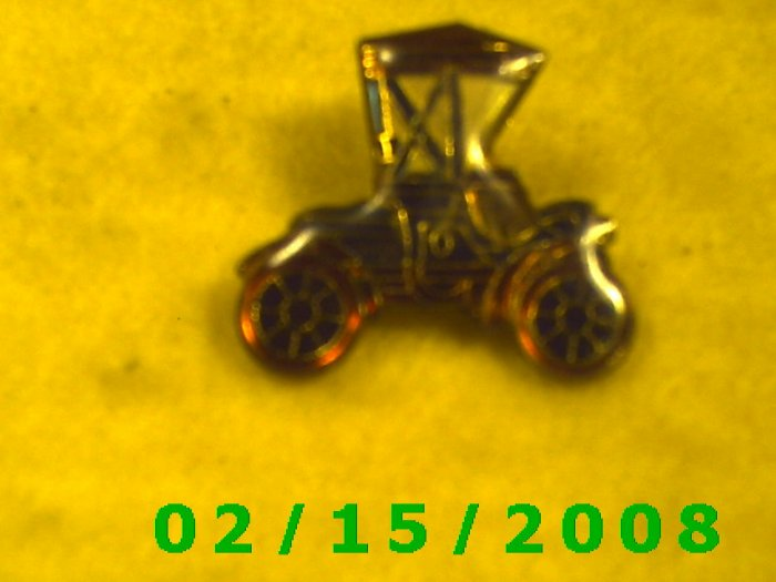 The Red Horseless Carriage Hat Pin