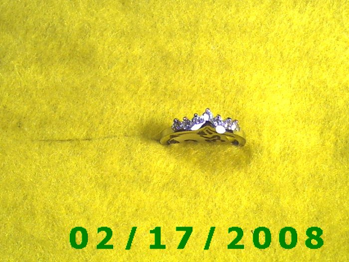 Ring Silver w/7 cz. part of wedding set   size 6 (003)