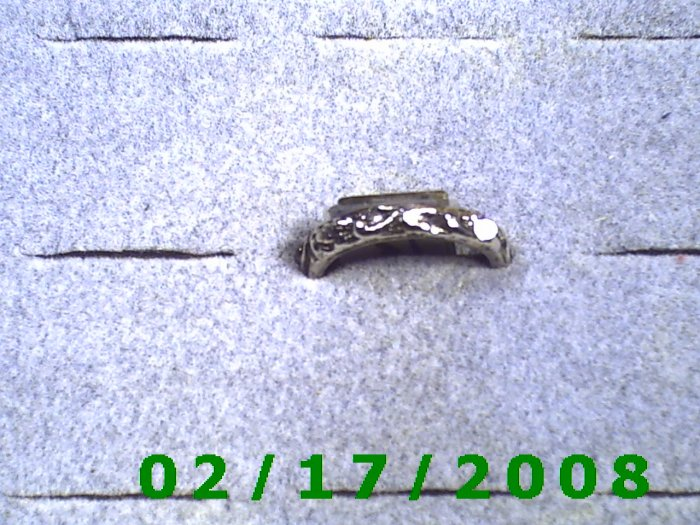 Silver Ring size 5 floral design