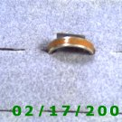 .925 Silver Ring w/brown inlay