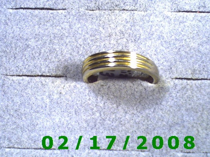 Silver Ring size 13 was plated gold