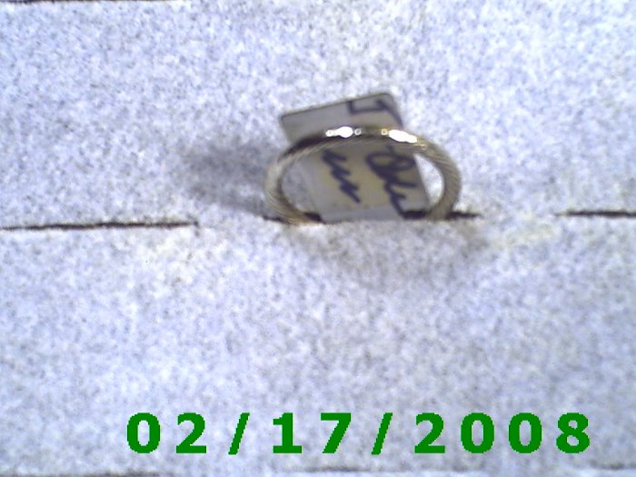 Silver Ring twisted rope Size 5