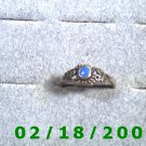 .925 Silver Ring size 9 w/light blue stone