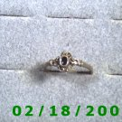 .925 Silver Ring size 9 w/black stone