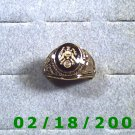 Gold Shield Guard Ring, Green Baret, size 11, Warranty