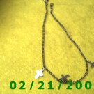 """9 1/2"""" Silver Bracelett w/crosses (017)"""