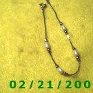 """7"""" Silver Bracelett w/beads.(069)"""